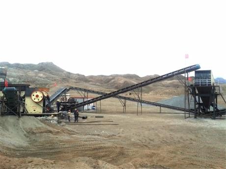 青海石料生产现场