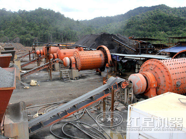 金矿球磨机生产现场