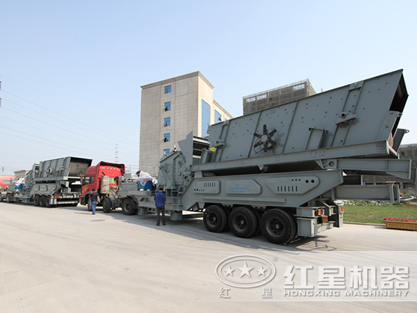 时产150吨青石移动破碎站发货